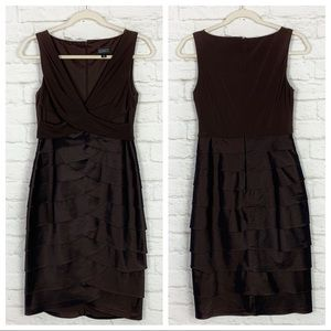 Adrianna Papell Tiered Sleeveless Cocktail Dress 4